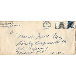 E)1990 UNITED STATES, BIRD, CIRCULATED COVER FROM PASADENA TO MEXICO D.F.