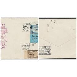 O) 1936 UNITED STATES - USA, FIRST FLIGHT, LAKEHURST,TRANS ATLANTIC, DEFENDER OF