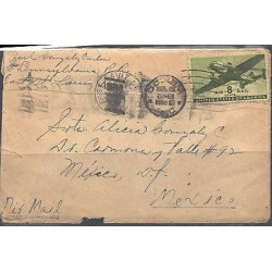 O) 1950 USA - UNITED STATES, AIR MAIL, 8 CENTAVOS, TO MEXICO, XF