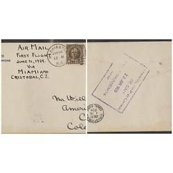 O) 1929 UNITED STATES - USA, NATHAN HALZ, AMERICA INDIAN, HARRISON, FIRST FLIGHT