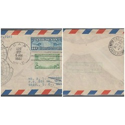 O) 1937 UNITED STATES - USA, FIRST TRANS PACIFIC FLIGHT-10 CENTS, AIRPLANE - 20