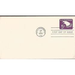 E)1965 UNITED STATES, EAGLE 5C STAMP, PREPAID COVER, POSTAL STATIONERY