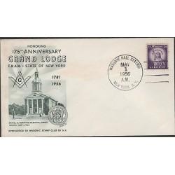 O) 1956 UNITED STATES, GRAND LODGE MASONIC-MASON, COAT, FDC XF