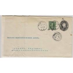 O) 1909 PUERTO RICO-UNITED STATES, POSTAL ESTATIONARY,ONE CENT GREEN- FRANKLIN,