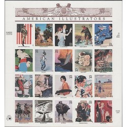 O) 2001 UNITED STATES, AMERICAN ILLUSTRATORS, ADHESIVES, STICKERS, SET XF
