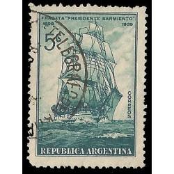 E)1939 ARGENTINA, FRIGATE PRESIDENT SARMIENTO, SAILBOAT, USED