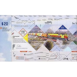 RG)2011 ARGENTINA, TRAIN-TRAIN BRIDGE-MAP-ANIMALS-FLORA, TRAIN TO THE CLOUDS, S/