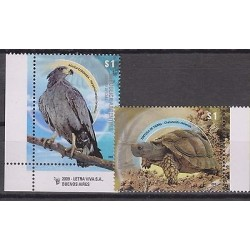 RO)2009 ARGENTINA, BIRD OF PREY - EAGLE, TORTOISE, MNH