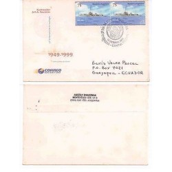 E) 1999 ARGENTINA, SHIP, TRACKER ARA FOURNIER, 50TH ANNIVERSARY OF HIS SHIPWRECK