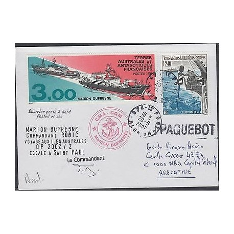 O) 2002 FRANCE, FRENCH COLONIES, TERRES AUSTRALES ET ANTARTICS TO ARGENTINA, MAR