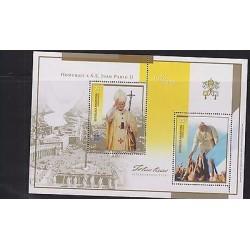 E) 2005 ARGENTINA, POPE JOHANNES PAULUS II, SOUVENIR SHEETS