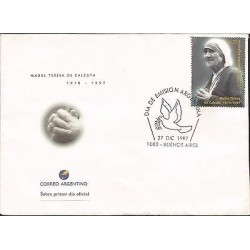 E)1997 ARGENTINA, MOTHER TERESA OF CALCUTTA, RELIGION, CATHOLICISM, PEACE, FDC