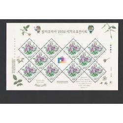 O) 2002 KOREA, FLOWERS - ROSA HYBRID, PINK LADY, MNH