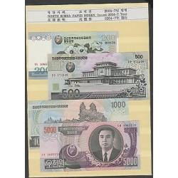 RO) 2004 KOREA, BANKNOTE - WON, PAPER MONEY, FULL SET UNC, ISSUED 2004-7 YEAR