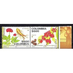 RG)2012 COLOMBIA-KOREA JOIN ISSUE, COFFEE AND GINSENG,PAIR,MNH
