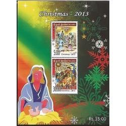 E)2013 SRI LANKA, CHRISTMAS, RELIGION, MINISHEETS, MNH