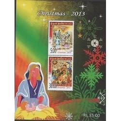 o) 2013 SRI LANKA, CHRISTMAS, SOUVENIR MNH