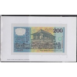 E) 1998 SRI LANKA, 200 RUPEE BANKNOTE SPECIAL EDITION, POLYMER MATERIAL