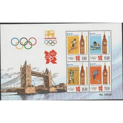 O) 2012 SRI LANKA, GAMES OF THE XXX OLYMPIAD-OLYMPIC GAMES LONDON, SOUVENIR MNH