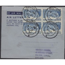 O) 1954 SRI LANKA - CEYLON, ELEPHANTS, PROCESSIONS ROYAL, COVER TO ENGLAND