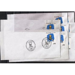 G)1982 ITALY, WORLD CUP SPAIN '82 CHAMPIONS, CUP-HANDS-NET, SET OF 8 FDC's ALL I