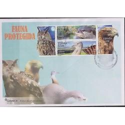 0) 2014 SPAIN, OWL, BIRD OF PREY, NUTRIA - LUTRINAE, OTTER, FDC XF
