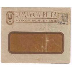 E) 1941 SPAIN, ESPASA-CALPE S.A CIRCULATED COVER