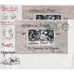 G)1981 SPAIN, EL GUERNICA IN SPAIN, PICASSO'S CENTENARY, SET OF FDC, GOTHIC AND