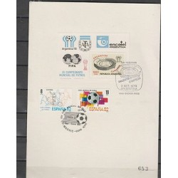 O) 1982 SPAIN, SOCCER WORLD CUP, FDC UNUSED, XF