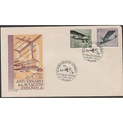 O) 1961 SPAIN, AIRPLANE - PLANE, FDC XF