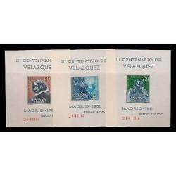 E)1961 SPAIN, III CENTENARY OF VELAZQUEZ, SOUVENIR SHEETS, MNH