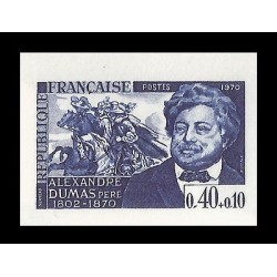 E)1970 FRANCE, DIE PROOF, ALEXANDRE DUMAS PERE, ILUSTRATION, CELEBRITY, ESTAMP B