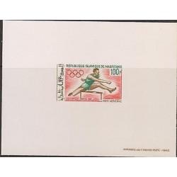 E)1968 MAURITANIA, CAREER JUMP, ATHLETICS, PROOF, MEXICO OLYMPICS