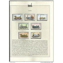 O) 1985 VIETNAM, LOCOMOTIVE 1841 TO 1843, SET MNH