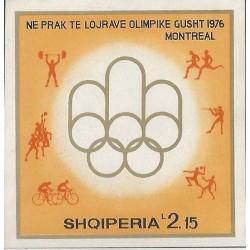 E)1976 ALBANIA, MONTREAL OLYMPICS GAMES,IMPERFORATED, SOUVENIR SHEET, MNH