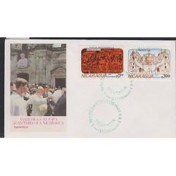 O) 1983 NICARAGUA, POPE JOHN PAUL II., VISIT, FDC XF