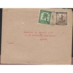 O) 1947 CONGO, RANGER FORESTRY AGENT, TREE - PALM OIL, COVER TO LONDON, XF