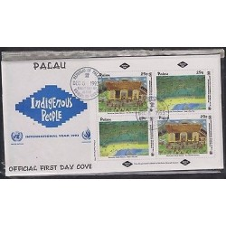 E) 1993 PALAU, INDIGENOUS PEOPLE, UNITED NATIONS – HUMAN RIGHTS, FDC