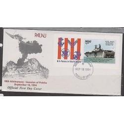 O) 1994 PALAU, WARSHIP - BOAT, U.S.S.PELELIU, INVASION 1944 - BATTLE, NAVY LHA5,