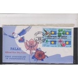 E) 1995 PALAU, FIRST ANNIVERSARY OF INDEPENDENCE, FLORA, FAUNA AND ISLANDS