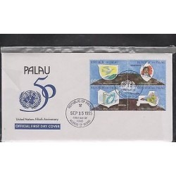 E) 1995 PALAU, UNITED NATIONS FIFTIETH ANNIVERSARY, EDUCATION, PEACE