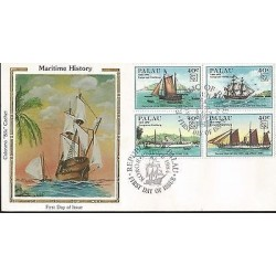E)1984 PALAU, 19TH APU CONGRESS HAMBURG, SHIPS, MULTIPLE STAMPS, FDC