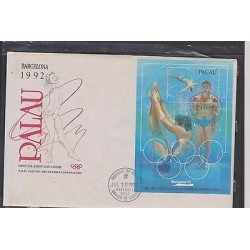 E) 1992 PALAU, SALUTES THE OLYMPIAN INNOVATORS, BARCELONA, FDC, MNH