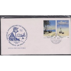 E) 1996 PALAU, IN THE BLUE SHADE OF TREES, FDC, MNH