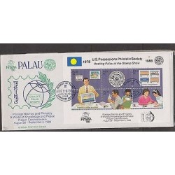 O) 1988 PALAU, POSSESSIONS PHLATELIC SOCIETY 1978, HOSTING AT THE STAMP SHOW, PR