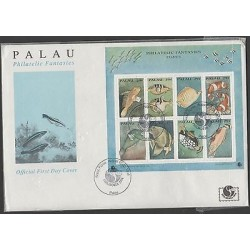 o) 1994 PALAU, FISHES, FDC XF