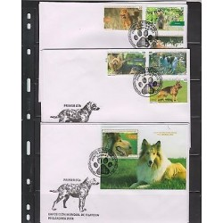 0) 2014 CARIBE, DOGS, WORLD PHILATELY EXHIBITION - PHILAKOREA 2014, FDC XF