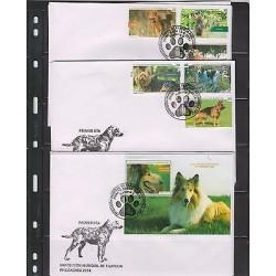 0) 2014 CARIBE, DOGS, WORLD PHILATELY EXHIBITION - PHILAKOREA 2014, FDC XF