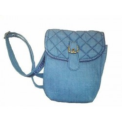 vta.ca.Cross body bag denim fabric, Naraya, mini size, 1 exterior pocket