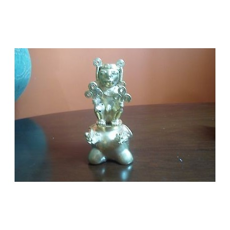 O) COLOMBIA, CHIEFTAIN - SNAKE, TUMBAGA DETAILS ABOUT COPPER AND GOLD ALLOY, COL